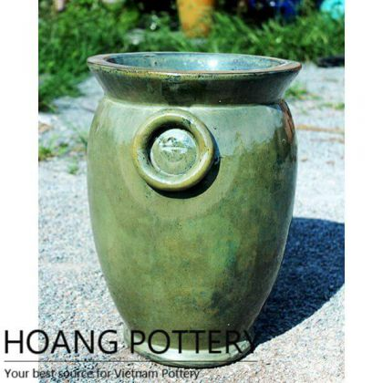 Antique Aqua Green Glazed Ceramic Jars (HPPN005)