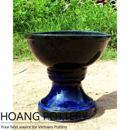 Blue Ceramic Glazed Planters (HPTV035)