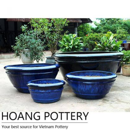 Giant Glazed Ceramic Pots outdoor (HPDB024)