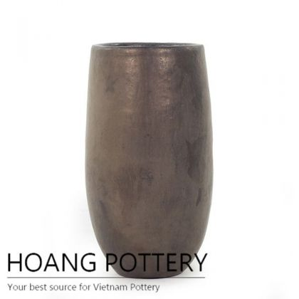 Glazed Ceramic Tall Pot Outdoor (HPAN055)