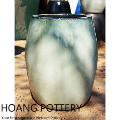 Vietnam Large Ceramic Round Pot Outdoor (HPAN051)