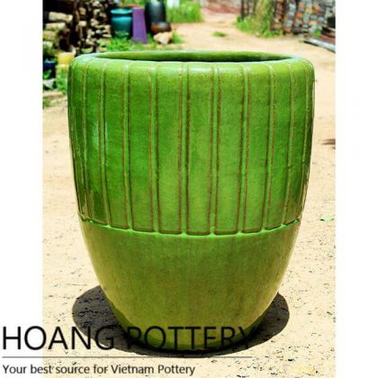 Contemporary Ceramic Glazed Flower Pots (HPAN063)
