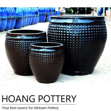 Large Glazed Ceramic Flower Pots (HPLO012)