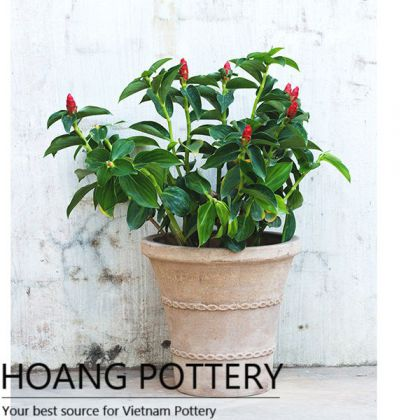 Quality Red Clay Garden Decor Pots (HPTC095)
