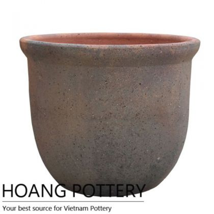 Simple Round bowl Old Stone Flower Pot (HPSB007)
