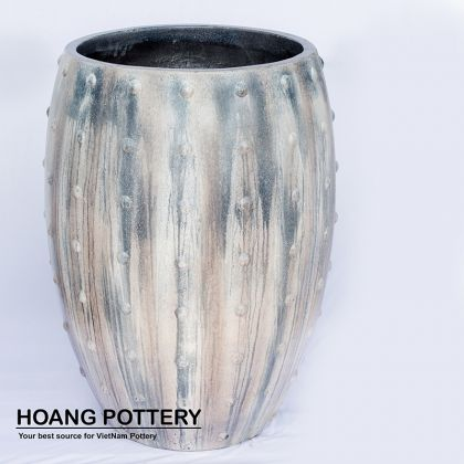Painting Cement Pot
